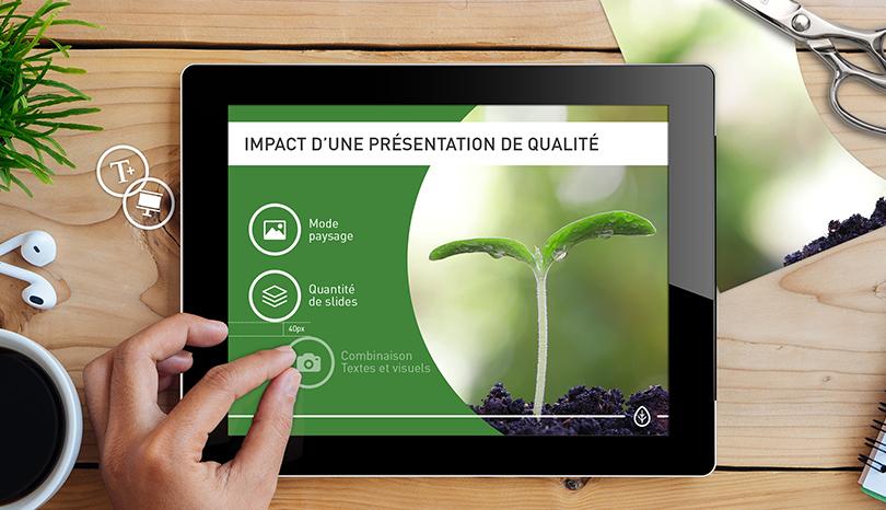 Impact d'une présentation de qualité !