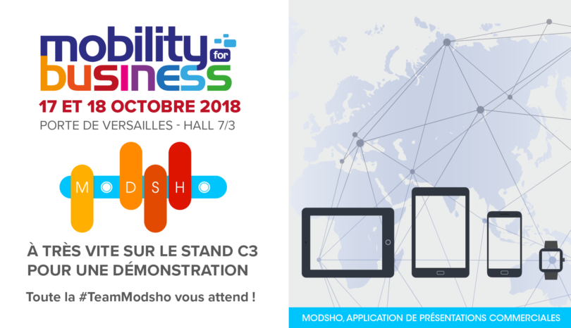 Modsho au salon Mobility For Business Paris 2018